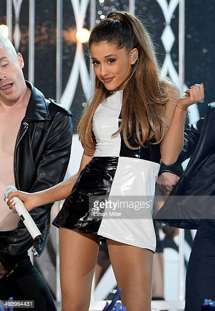 Recording artist Ariana Grande performs during the 2014 Billboard Music Awards at the MGM Grand Garden Arena on May 18 2014 in Las Vegas Nevada