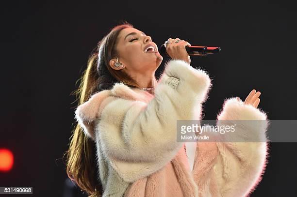 Recording artist Ariana Grande performs on stage at KIIS FM's Wango Tango 2016 at StubHub Center on May 14 2016 in Carson California