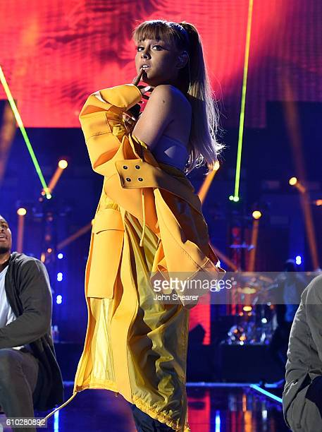 Recording artist Ariana Grande performs onstage at the 2016 iHeartRadio Music Festival at TMobile Arena on September 24 2016 in Las Vegas Nevada