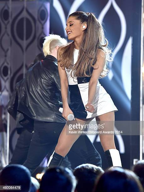 Recording artist Ariana Grande performs onstage during the 2014 Billboard Music Awards at the MGM Grand Garden Arena on May 18 2014 in Las Vegas...