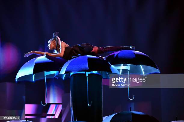 Recording artist Ariana Grande performs onstage during the 2018 Billboard Music Awards at MGM Grand Garden Arena on May 20 2018 in Las Vegas Nevada