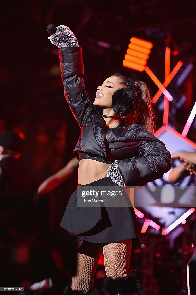 Recording artist Ariana Grande performs onstage during Z100's Jingle Ball 2016 at Madison Square Garden on December 9, 2016 in New York, New York.