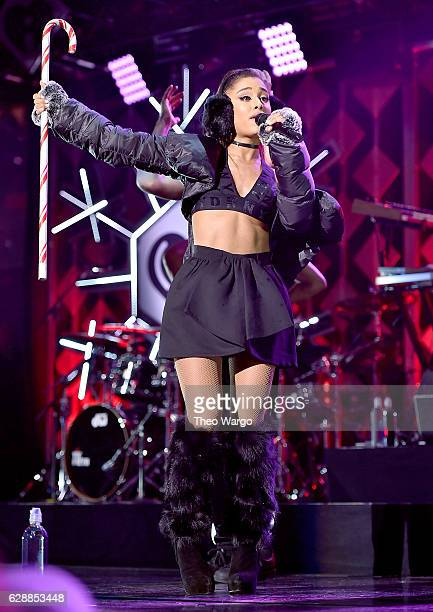 Recording artist Ariana Grande performs onstage during Z100's Jingle Ball 2016 at Madison Square Garden on December 9 2016 in New York New York