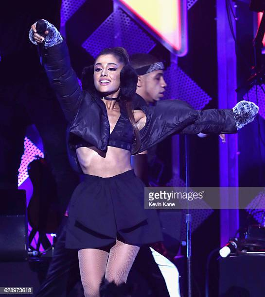 Recording artist Ariana Grande performs onstage during Z100's Jingle Ball 2016 at Madison Square Garden on December 9 2016 in New York City
