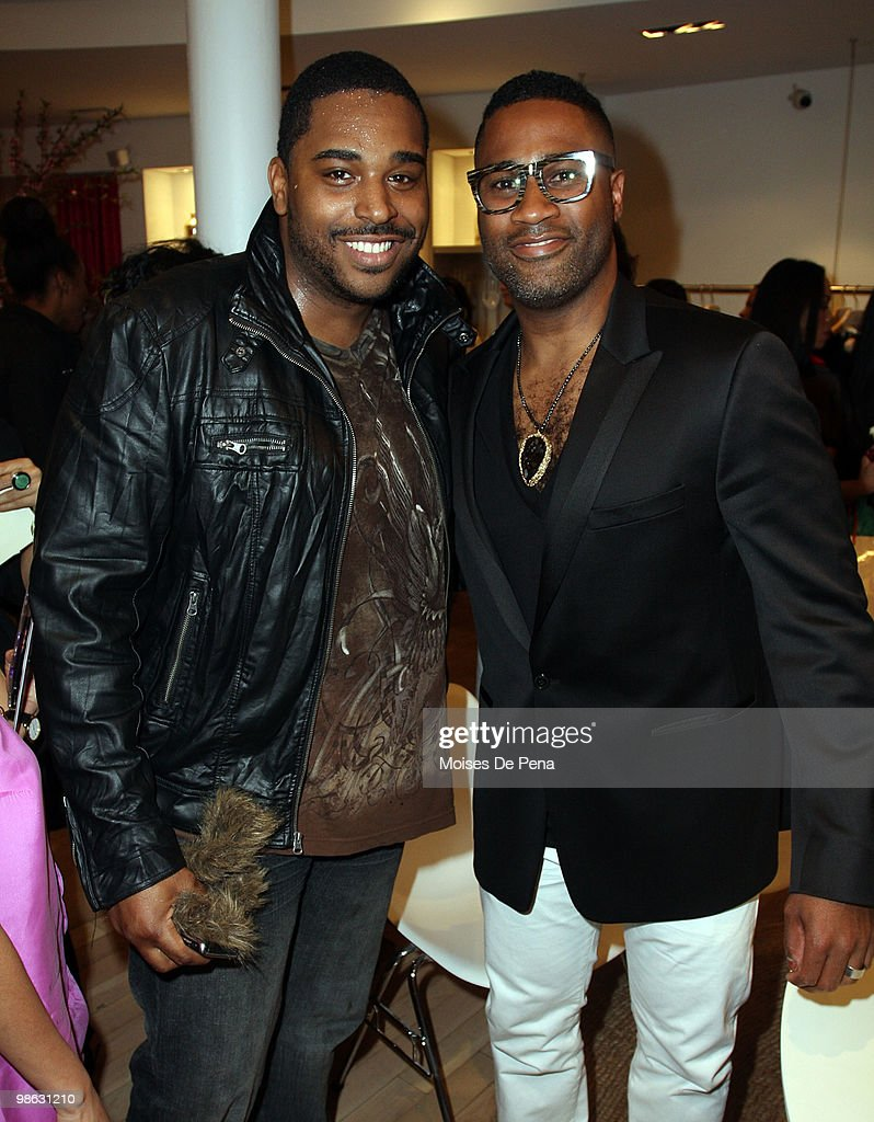 Recording Artist Asa Turner and Kieth Campbell attends the 'Cuts Of Our Infirmities' book launch party at the Tracy Reese Boutique on April 22, 2010 in New York City.