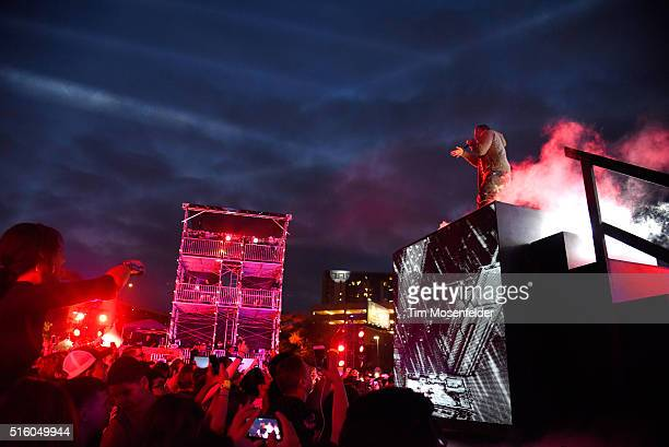 Recording artist ASAP Ferg performs onstage during the 2016 MTV Woodies/10 For 16 on March 16 2016 in Austin Texas