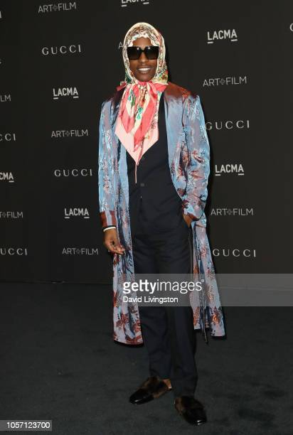Recording artist ASAP Rocky wearing Gucci attends 2018 LACMA Art Film Gala honoring Catherine Opie and Guillermo del Toro presented by Gucci at LACMA...