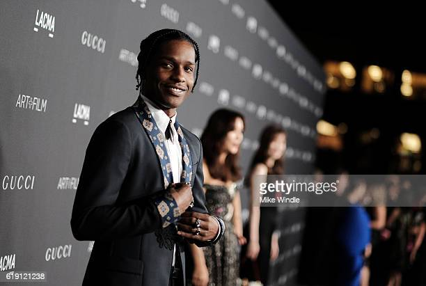 Recording artist ASAP Rocky wearing Gucci attends the 2016 LACMA Art Film Gala honoring Robert Irwin and Kathryn Bigelow presented by Gucci at LACMA...