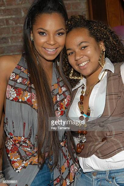 Recording artist Ashanti and her sister Shia Douglas attend Ashanti's 'Collectables by Ashanti' Album Release Party at Rhone December 6 2005 in New...