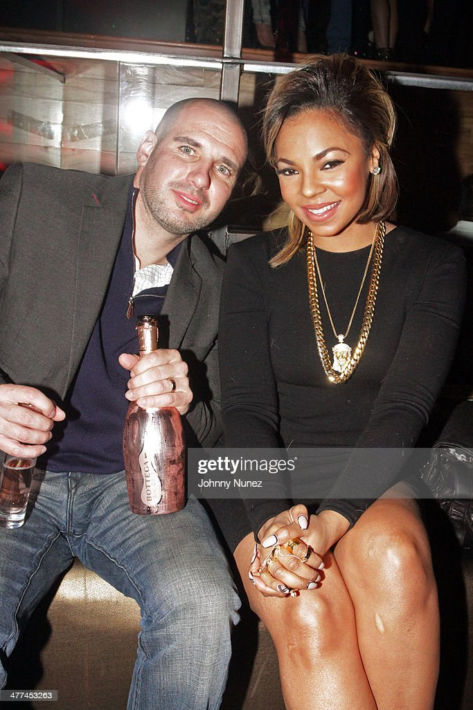 Recording artist Ashanti (r) attends her 'Brave Heart' Album Release Party at Greenhouse on March 8, 2014, in New York City.
