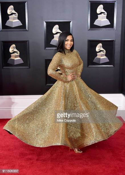 Recording artist Ashanti attends the 60th Annual GRAMMY Awards at Madison Square Garden on January 28 2018 in New York City