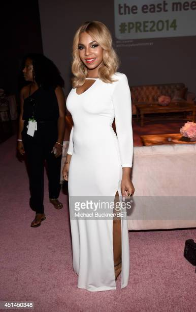 Recording artist Ashanti attends the BET AWARDS '14 Debra Lee's PreDinner held at Milk Studios on June 28 2014 in Los Angeles California