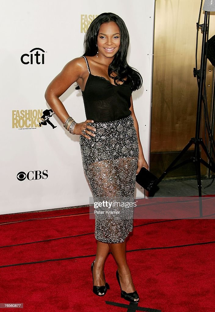 Recording artist Ashanti attends the Conde Nast Media Group's Fourth Annual Fashion Rocks Concert at Radio City Music Hall September 6, 2007 in New York City.