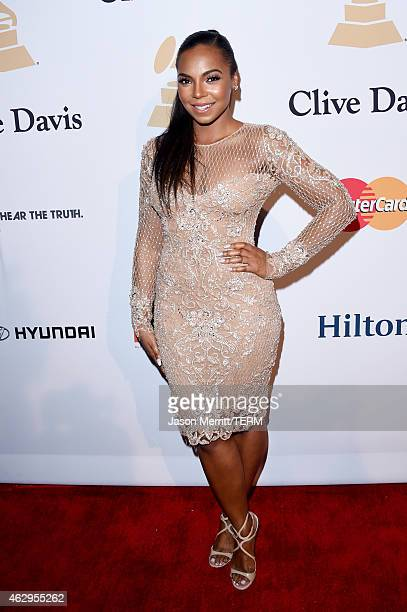 Recording artist Ashanti attends the PreGRAMMY Gala and Salute To Industry Icons honoring Martin Bandier on February 7 2015 in Los Angeles California