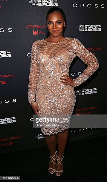 Recording artist Ashanti attends the Primary Wave 9th Annual PreGrammy Party at RivaBella on February 7 2015 in West Hollywood California