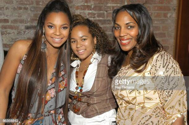Recording artist Ashanti her sister Shia Douglas and their mother Tina Douglas attend Ashanti's 'Collectables by Ashanti' Album Release Party at...