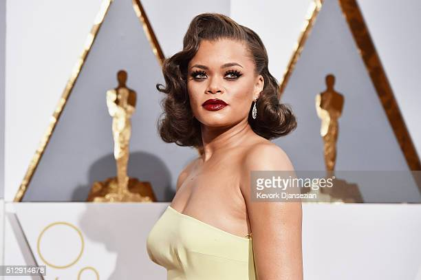 Recording artist attends the 88th Annual Academy Awards at Hollywood Highland Center on February 28 2016 in Hollywood California