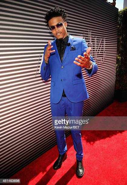 Recording artist August Alsina attends the BET AWARDS '14 at Nokia Theatre LA LIVE on June 29 2014 in Los Angeles California
