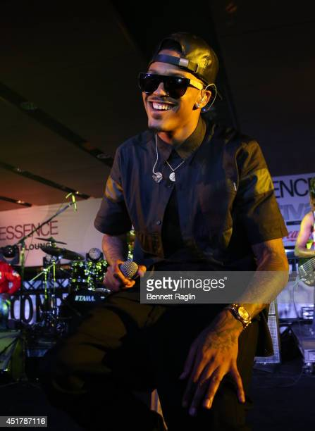 Recording artist August Alsina performs during the 2014 Essence Music Festival on July 6 2014 in New Orleans Louisiana