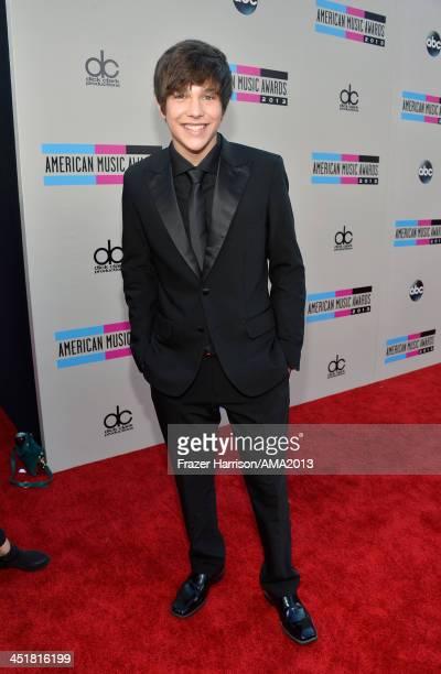 Recording artist Austin Mahone attends 2013 American Music Awards at Nokia Theatre LA Live on November 24 2013 in Los Angeles California