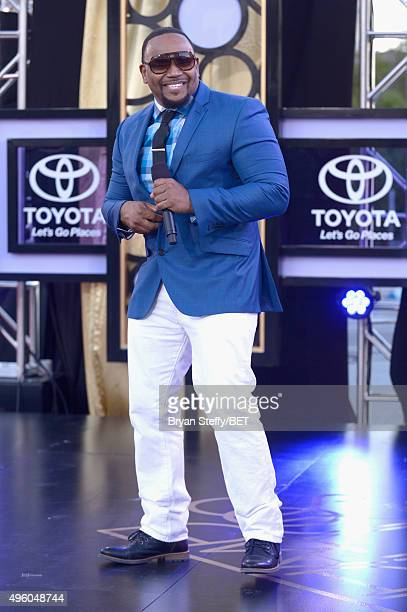 Recording artist Avant performs onstage during the 2015 Soul Train Music Awards preshow at the Orleans Arena on November 6 2015 in Las Vegas Nevada