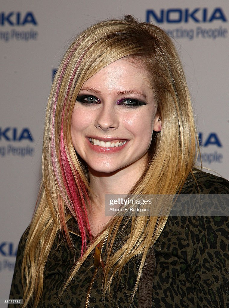 Recording artist Avril Lavign arrives at the premeire of Nokia Productions' Spike Lee Collaboration film held at the Nokia Theater L.A. Live on October 14, 2008 in Los Angeles, California.
