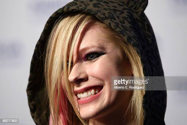Recording artist Avril Lavign arrives at the premeire of Nokia Productions' Spike Lee Collaboration film held at the Nokia Theater LA Live on October...