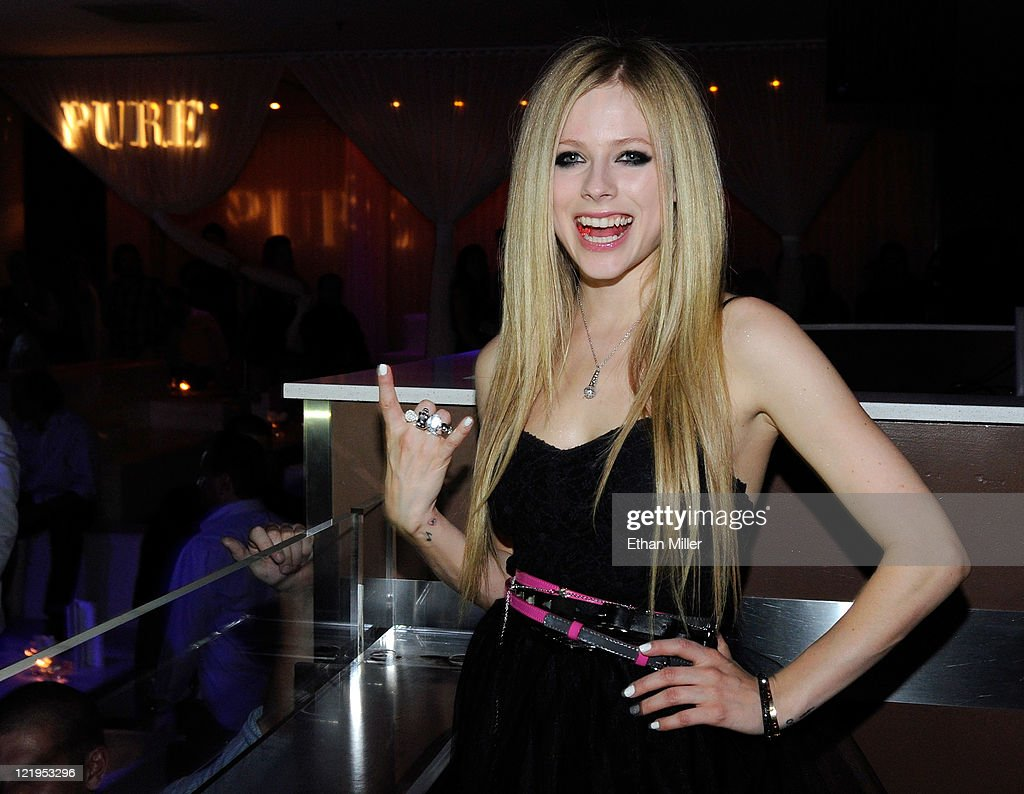 Recording artist Avril Lavigne appears at a MAGIC clothing convention after party for her Abbey Dawn clothing line at the Pure Nightclub at Caesars Palace August 23, 2011 in Las Vegas, Nevada.