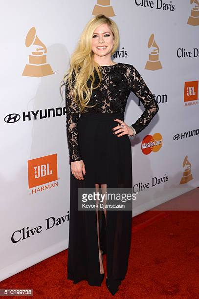 Recording artist Avril Lavigne attends the 2016 Pre-GRAMMY Gala and Salute to Industry Icons honoring Irving Azoff at The Beverly Hilton Hotel on...