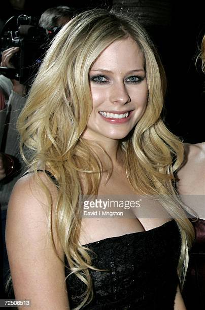 "Recording artist Avril Lavigne attends the Los Angeles premiere of 20th Century Fox's ""Fast Food Nation"" at the Egyptian Theater on November 10, 2006..."