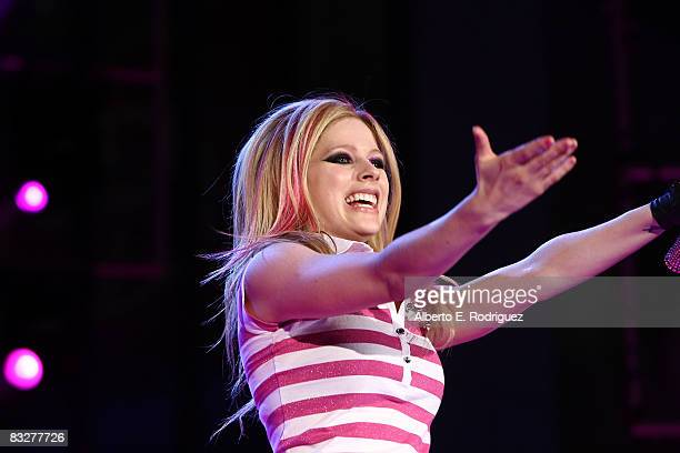 Recording artist Avril Lavigne performs at the premeire of Nokia Productions' Spike Lee Collaboration film held at the Nokia Theater L.A. Live on...