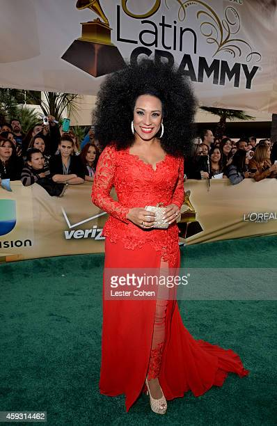 Recording artist Aymee Nuviola attends the 15th annual Latin GRAMMY Awards at the MGM Grand Garden Arena on November 20 2014 in Las Vegas Nevada