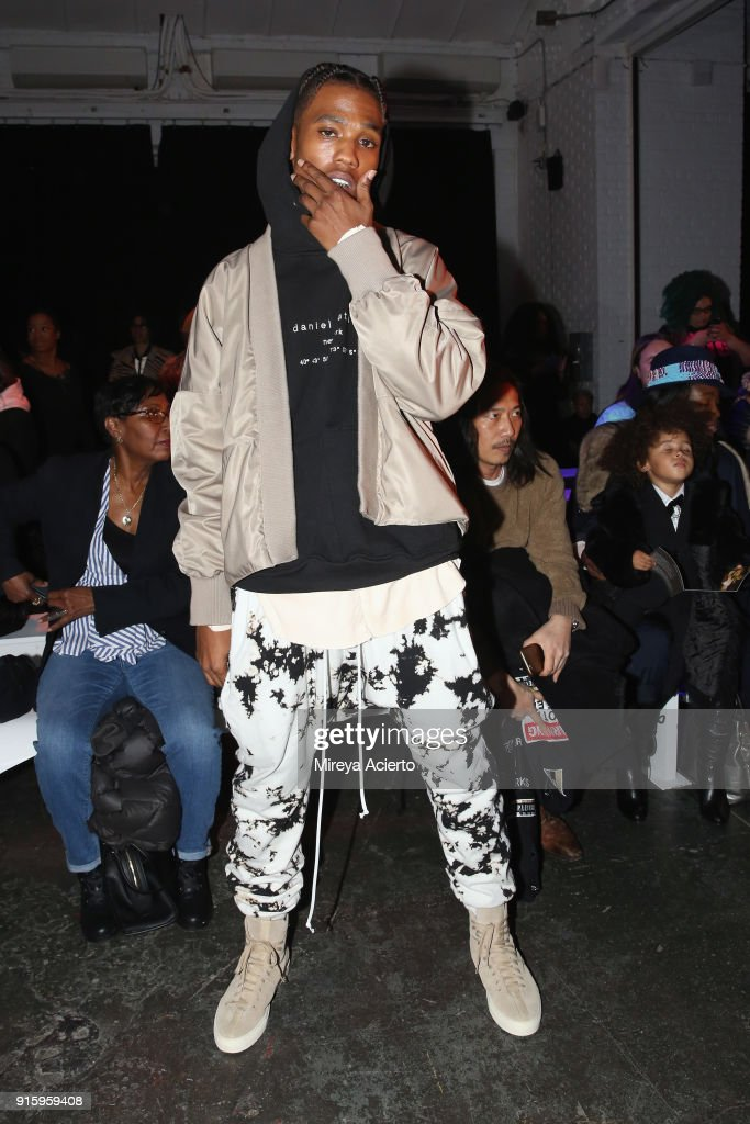 Recording artist B. Smyth attends the Ceremony: Xuly.Bet x Mimi Prober x Hogan McLaughlin front row during New York Fashion Week presented by First Stage at Industria Studios on February 8, 2018 in New York City.