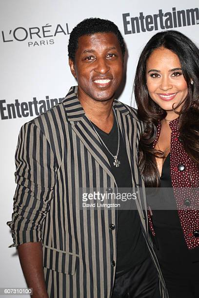 Recording artist Babyface and actress Nicole Pantenburg attend Entertainment Weekly's 2016 PreEmmy Party at Nightingale Plaza on September 16 2016 in...