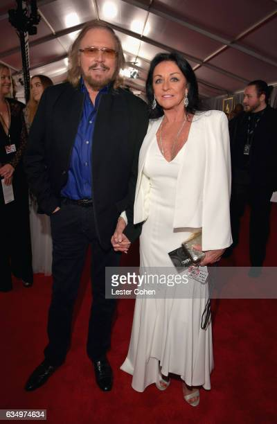 Recording artist Barry Gibb and Linda Gra attends The 59th GRAMMY Awards at STAPLES Center on February 12 2017 in Los Angeles California