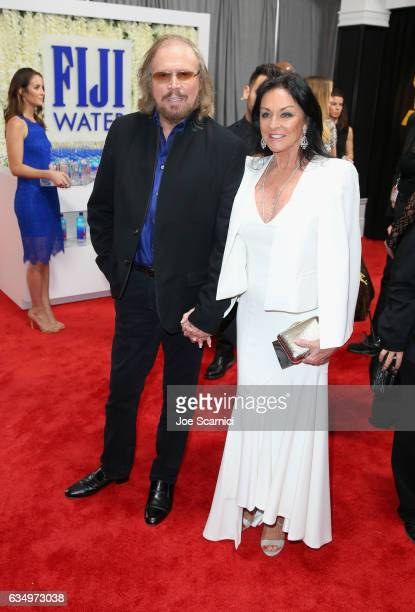 Recording artist Barry Gibb and Linda Gray at The 59th Annual GRAMMY Awards at STAPLES Center on February 12 2017 in Los Angeles California