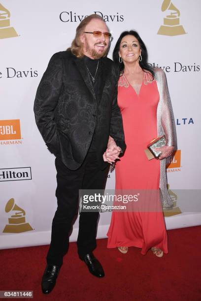 Recording artist Barry Gibb and Linda Gray attend Pre-GRAMMY Gala and Salute to Industry Icons Honoring Debra Lee at The Beverly Hilton on February...