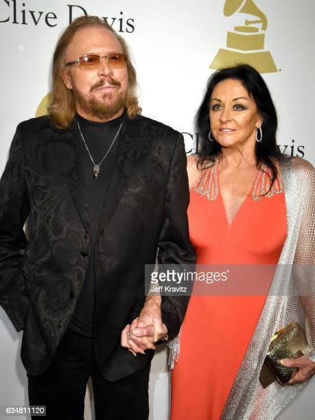 Recording artist Barry Gibb and Linda Gray attends the 2017 PreGRAMMY Gala And Salute to Industry Icons Honoring Debra Lee at The Beverly Hilton...