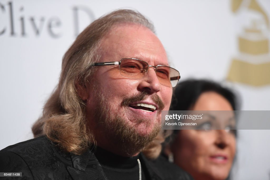 Recording artist Barry Gibb attends Pre-GRAMMY Gala and Salute to Industry Icons Honoring Debra Lee at The Beverly Hilton on February 11, 2017 in Los Angeles, California.