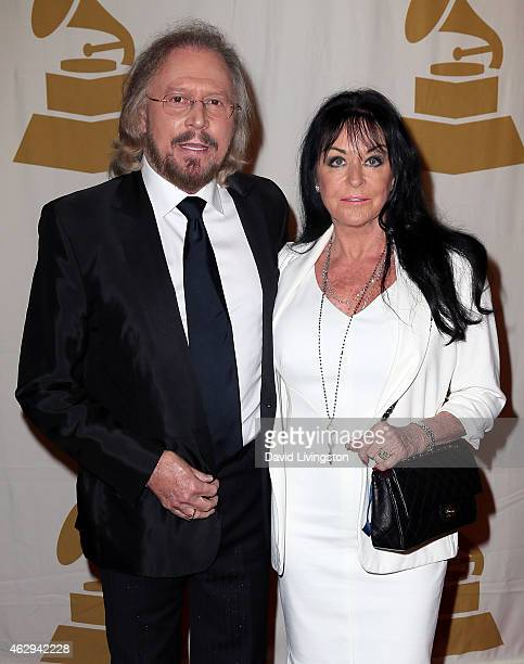 Recording artist Barry Gibb of the Bee Gees and wife Linda Gibb attend the 57th GRAMMY Awards Special Merit Awards Ceremony at the Wilshire Ebell...
