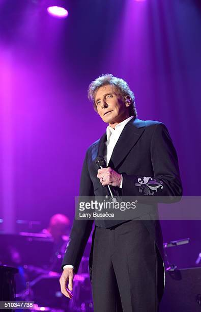 Recording artist Barry Manilow performs onstage during the 2016 PreGRAMMY Gala and Salute to Industry Icons honoring Irving Azoff at The Beverly...
