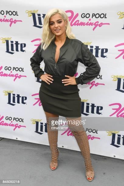 Recording artist Bebe Rexha arrives at the Flamingo Go pool at Flamingo Las Vegas on September 9 2017 in Las Vegas Nevada