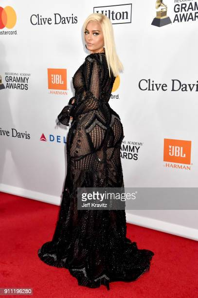Recording artist Bebe Rexha attends the Clive Davis and Recording Academy PreGRAMMY Gala and GRAMMY Salute to Industry Icons Honoring JayZ on January...
