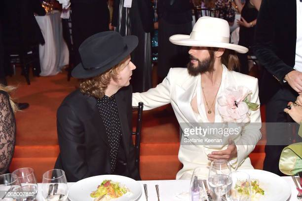 Recording artist Beck and actor Jared Leto both wearing Gucci attend 2018 LACMA Art Film Gala honoring Catherine Opie and Guillermo del Toro...