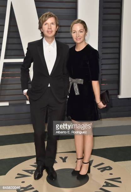 Recording artist Beck and actor Marissa Ribisi attend the 2017 Vanity Fair Oscar Party hosted by Graydon Carter at Wallis Annenberg Center for the...