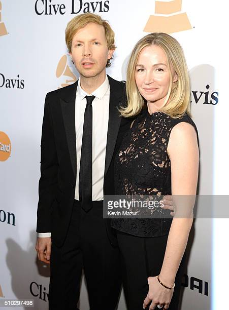 Recording artist Beck and actress Marissa Ribisi attend the 2016 PreGRAMMY Gala and Salute to Industry Icons honoring Irving Azoff at The Beverly...