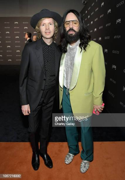 Recording artist Beck and Gucci Creative Director Alessandro Michele attend 2018 LACMA Art Film Gala honoring Catherine Opie and Guillermo del Toro...