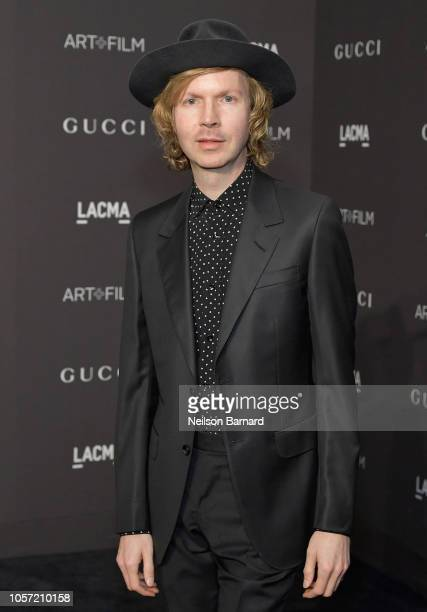 Recording artist Beck wearing Gucci attends 2018 LACMA Art Film Gala honoring Catherine Opie and Guillermo del Toro presented by Gucci at LACMA on...