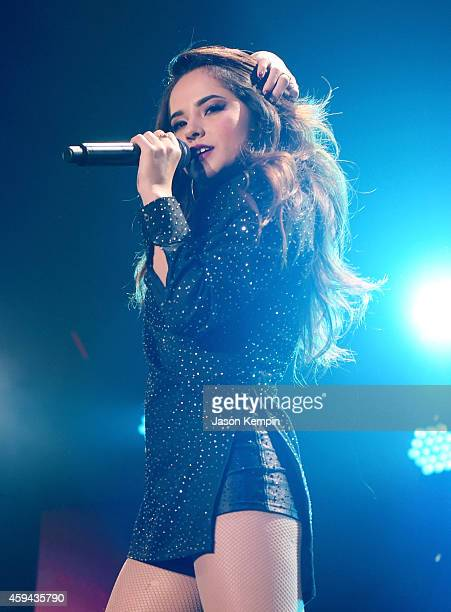 Recording artist Becky G performs onstage during the iHeartRadio Fiesta Latina festival presented by Sprint at The Forum on November 22 2014 in...
