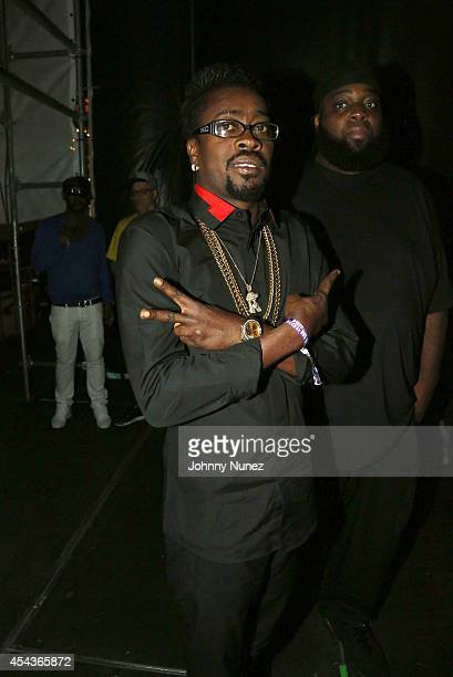 Recording artist Beenie Man attends the On Da Reggae Tip 2014 concert event at Pier 97 on August 29 2014 in New York City